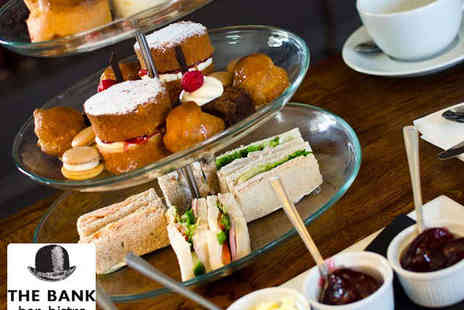 The Bank Bar Bistro - Afternoon Tea for Two People - Save 53%