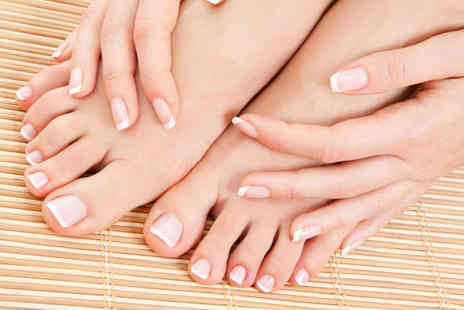 Dermal Beauty Clinic - Manicure and Pedicure with Choice of Tea of Coffee on Arrival - Save 67%