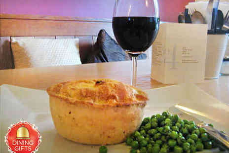 No. 4 Sarum Street - Handmade Pie or Other Main with Sides and Wine for Two People - Save 50%