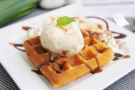 Cafe Fresco -  Belgian Waffles With Cream and Drink For Two for £6 - Save 50%