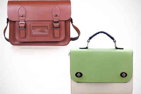 Wimbai - Classic Satchel or Notepad Satchel in Choice of Colours - Save 58%