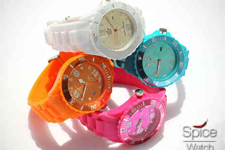 Spice Watch - Spice Silicone Watch in Choice of Colours - Save 80%