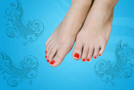 Indulge Tanning and Beauty - £6 for a 30-minute fish pedicure and glass of bubbly - Save 70%