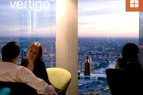Vertigo 42 - Champagne Afternoon Tea or Sharing Platter and City Views for Two - Save 20%