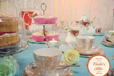 Violets Attic Pampering Parlour - Afternoon Tea with Bubbly and Treatment - Save 51%