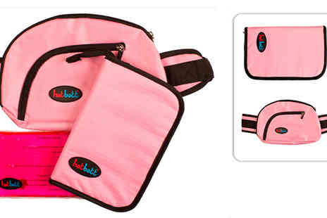 HotBott - Pink Hotbott heat travel set Includes waist bag fold away set - Save 40%