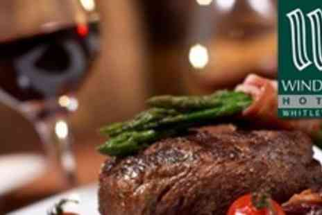 The Windsor Hotel - Steak Dinner With Accompaniment Sauces and Wine For Four - Save 66%