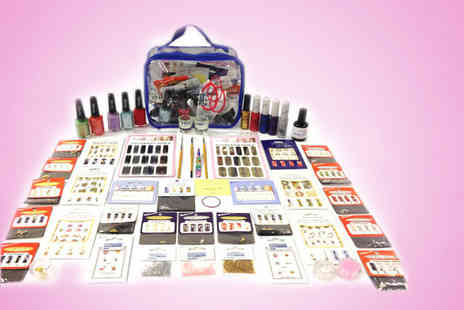 Millennium Nails - 65 piece Mega Millennium nail art kit including a presentation bag - Save 84%