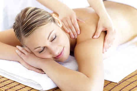 Natural Spa - 75 min hot stone back neck and shoulder massage and facial - Save 77%