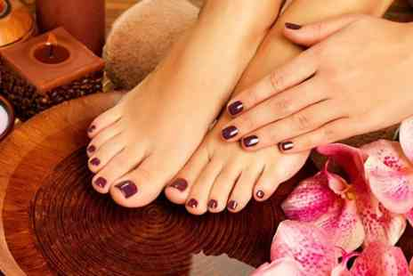 Shapers of Westcliff - Gelish Mani Pedi Plus Facial - Save 51%