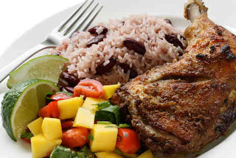Carib Grill Restaurant - Caribbean Jerk Chicken with Sides and Rum Punch for Two People - Save 53%