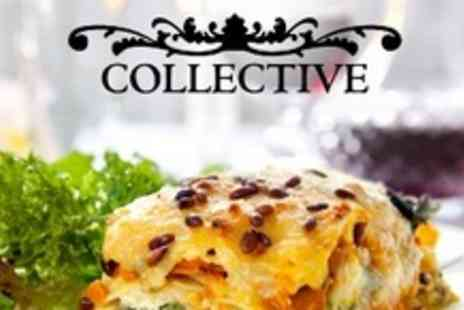The Collective - Two Course Italian Meal For Two With Glass of Wine Each - Save 61%