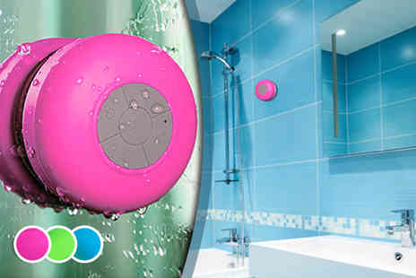 Juggernet.com - Bluetooth shower speaker in a choice of colours- Save 79%