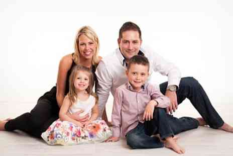 Graham Scott Studio - Family Photoshoot Package With Portrait and Mounted Prints - Save 89%