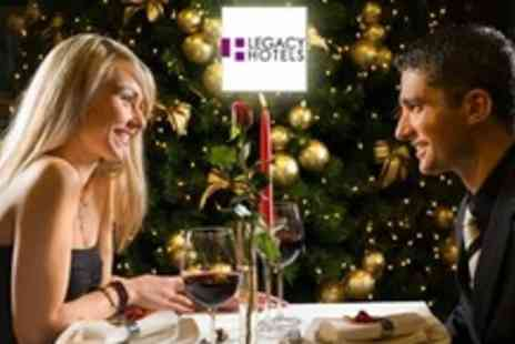The Legacy Hotels - One Night Christmas Day Getaway For Two With Christmas Lunch, Buffet Dinner, Wine and Breakfast - Save 59%