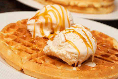 Lick - Waffles 2 scoops of gelato and hot chocolate for 2  - Save 52%