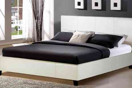 House Of Wyndsor - Contemporary Faux Leather Double Bed - Save 60%