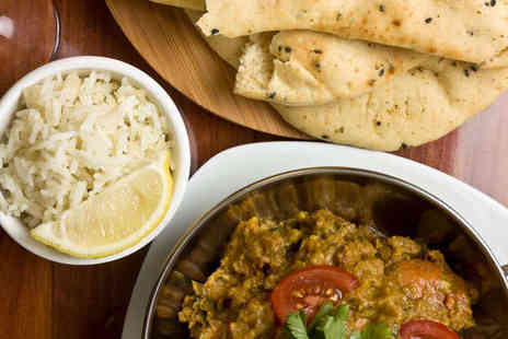 Delhi Deli - Indian Thali Meal for Two with Hot Drink Each - Save 52%