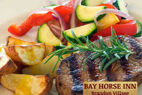 Bay Horse Inn - Two Course Meal with Wine for Two - Save 55%
