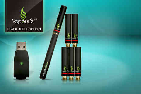 Shishaa - Gemini e-cigarette starter kit including 1 pack of refills - Save 60%