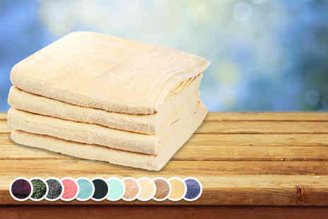 Absolute Home - Four piece Egyptian cotton towel set in a choice of 13 colours - Save 54%