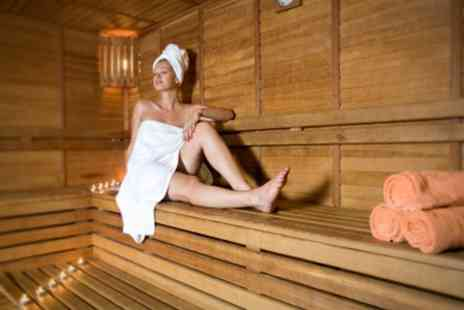 Pure Spa - Infra Red Sauna Plus Hot Stone or Deep Tissue Massage For Two - Save 48%