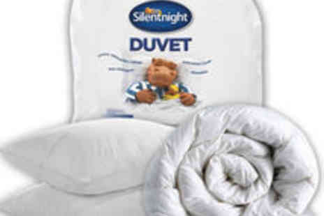 UK Bedding - Silentnight Warm Winter Duvet 15 Tog and 2 FREE Ultrabounce Pillows - Save 71%