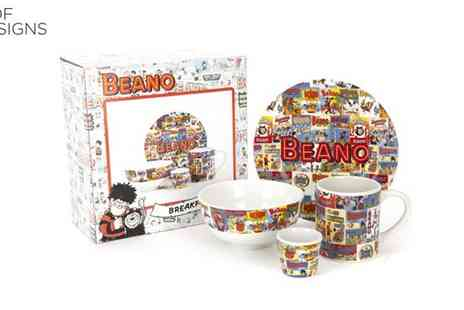 Irof Designs - Four Piece Beano Ceramic Breakfast Set - Save 61%