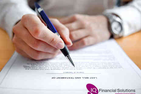 IQ Financial Solutions - Single Will Writing  - Save 84%