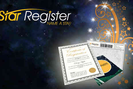 Star Register - Name a star after your loved one & give them a unique gift theyll remember for a lifetime - Save 60%
