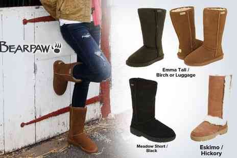 BearPaw Boots - Ladies sheepskin lined boots - Save 52%