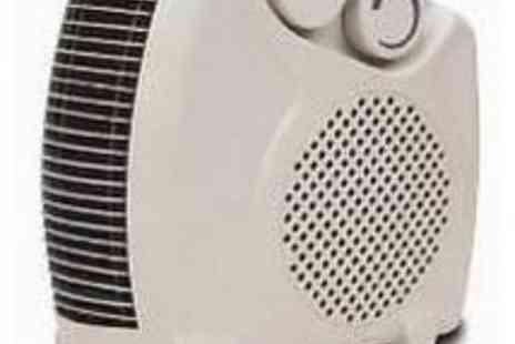 babz - 2000W 2Kw Portable Silent Electric Floor Fan Heater Hot & Cool Upright - Save 53%