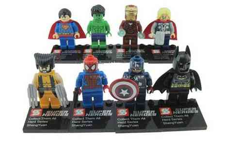 Mega Deals - 8 Superhero Figures - Save 56%