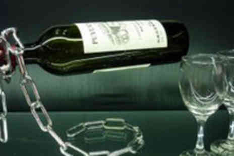 Bargain Buddy - Gravity Defying Chain Wine Bottle Holder - Save 70%