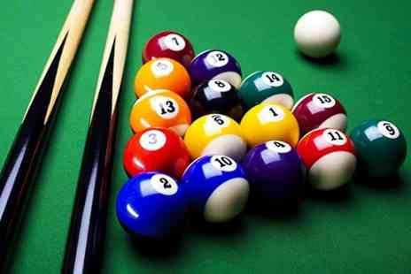 Cuesports Snooker Lounge - Snooker With Drink and Burger For Two - Save 67%