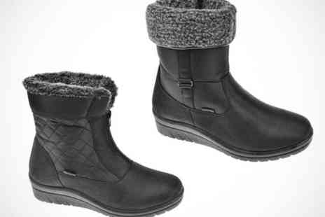 Mrs Marcos - Faux Fur Lined Ankle Boots for Women in Choice of Three Styles - Save 51%