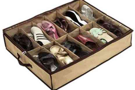 Londeal UK - Under Bed Shoe Storage Box Organiser 12 Pairs of Shoes - Save 69%