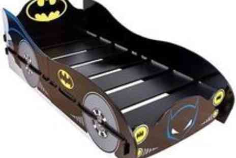 pink_and_blue_gifts1 - Batman The Dark Knight Batcave Batmobile Car Shaped Childrens Single Bed Frame - Save 53%