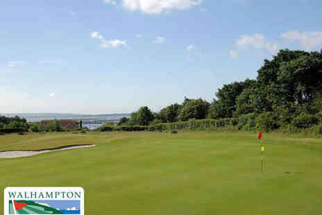 Walhampton Golf Course - 18 Holes of Golf 50 Driving Range Balls Coffee and Bacon Roll for One - Save 50%