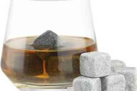 5stardeals - 9 Whisky on the Rocks Sipping Stones Drinks Cubes Stones Bar Scotch Gift W Bag - Save 63%