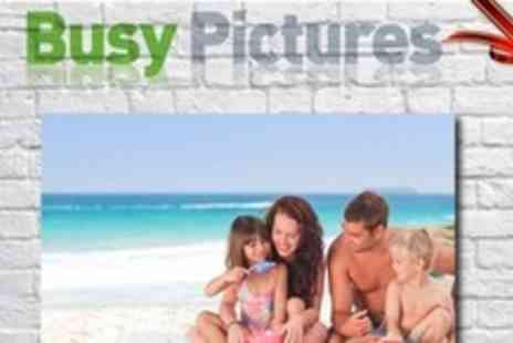 Busy Pictures - Custom 20x30 Inch Printed Canvas - Save 62%