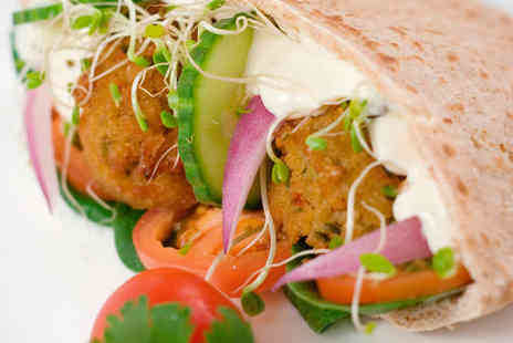 Fil Fil - Falafel Meal with Side Dish and Wine or Beer Each for Two - Save 50%