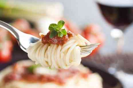 Mangiamo - Main Dish With Wine and Coffee For Two - Save 44%