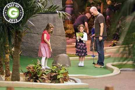 Paradise Island Adventure Golf - Golf 18 Holes for Two - Save 50%