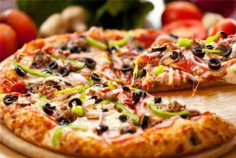 3 for 10 Pizza - Four Pizzas Two Sides and Two Drinks - Save 51%