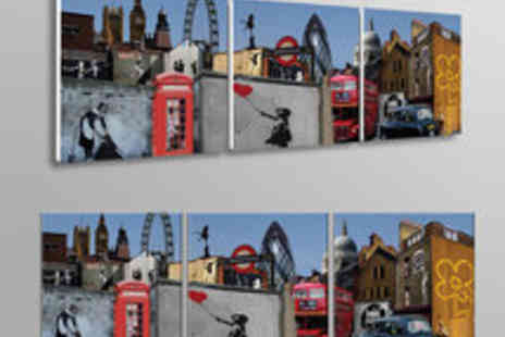 Canvas Town - Voucher for a Banksy Three Piece Panoramic Canvas - Save 65%