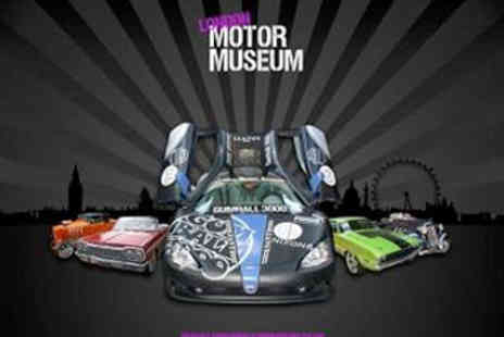 London Motor Museum -  Tickets To London Motor Museum   Batmobile Delorean and other Classic Cars from TV & film - Save 50%