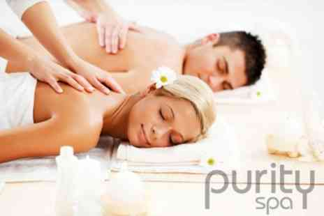Purity Spa - Hot Stone Massage and Glass of Bubbly Each with Access to Spa Facilities for TwoPeople for £65 - Save 69%