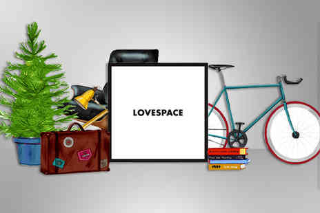LOVE SPACE - One months storage of up to 20 boxes and collection - Save 87%