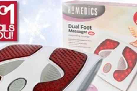No1Deals4You - Dual Relaxing Foot Massager - Save 64%